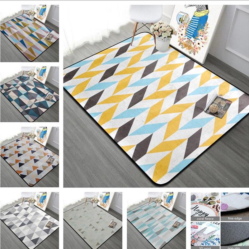 Tapis simples nordiques pour salon velours doux maison chambre tapis et tapis mode musique tapis de sol Table basse tapis