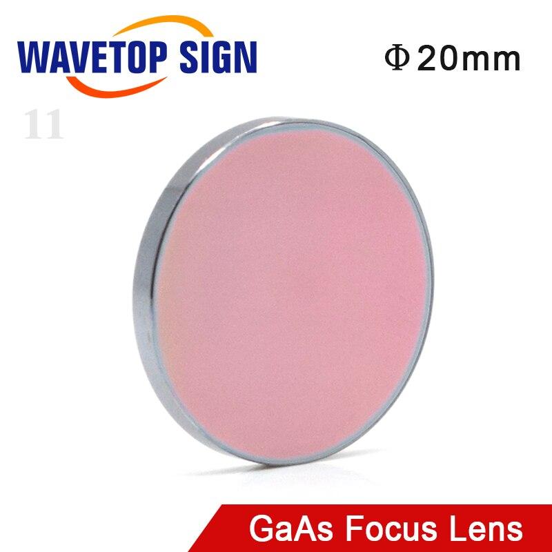 Wavetopsign gaas lente de foco diâmetro. 20mm fl 38.1 50.8 63.5 101 127mm 1.5-4
