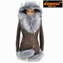 manufacturer direct supplier 4XL 2016 new Fashion Slim Women winter fashion Jacket fur fox Collar sheepskin fur coat Faux Natura