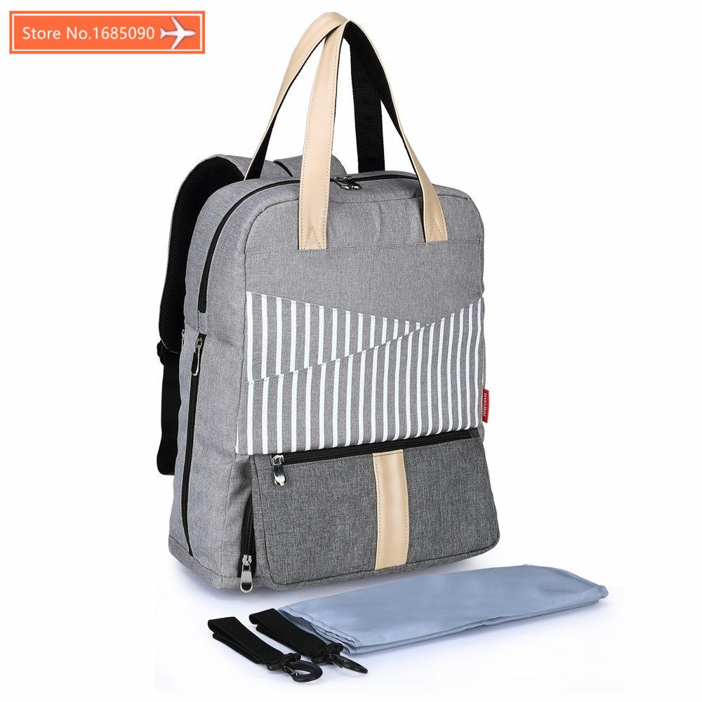 INSULAR Stripes Luiertas Baby Stroller Diaper Tote Mummy Maternity Nappy Messenger Bag Organizer Bags For Mom Mother Handbag зонт женский zest автомат 3 сложения цвет черный 23745 0108