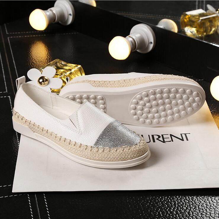 Glitter Loafers 2017 Summer Slip On Flats Fisherman Shoes Woman Casual Spring Women Flat Shoes Plus Size 35-43 xiaying smile woman flats women brogue shoes loafers spring summer casual slip on round toe rubber new black white women shoes