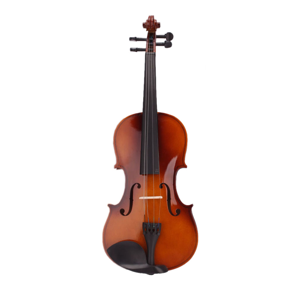 Music-S  4/4 Full Size Natural Acoustic Violin Fiddle with Case Bow Rosin full size 4 4 solid basswood electric acoustic violin with violin case bow rosin strings accessories