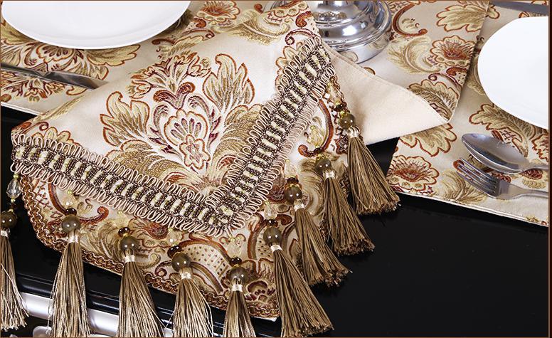Branfan Chemin de Table Minimaliste Moderne Tissu Style europ/éen Table Basse d/écoration Tissu am/éricain Pays Nordique 33 180CM/_2