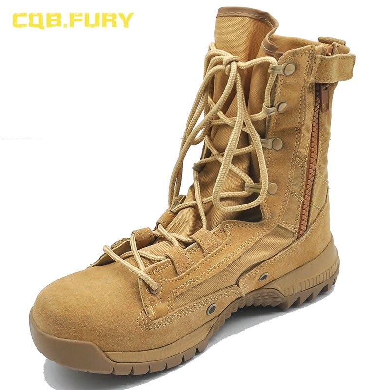 Ayakk.'ten Motosiklet çizmeleri'de CQB. FURY Bahar Erkek Ordu Taktik Çizmeler Moda Stil Rahat Inek süet çöl savaş çizme Ayak Bileği up asker botu fermuarlı'da  Grup 1