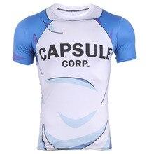 New Fashion Men's Capsule Corp Tshirt Dragon Ball Saiyan Goku New Anime T-shirt Man Tight T-shirts Short Sleeves Plus size