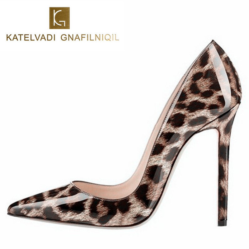 Sexy Women Pumps Leopard Shoes Women High Heels Fashion Pointed Toe Womens Shoes With Heels Wedding Shoes Chaussure Femme K-031 office kitten womens superstar pointed toe sexy high heels club low cut uppers fashion luminous women dress wedding shoes 2015