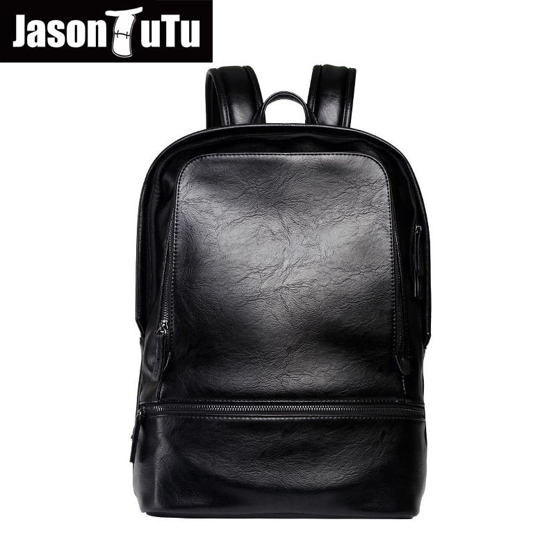 Free shipping Preppy Style 14-inch laptop backpack for teens School bags Good quality Black PU leather backpack mochila B571Free shipping Preppy Style 14-inch laptop backpack for teens School bags Good quality Black PU leather backpack mochila B571