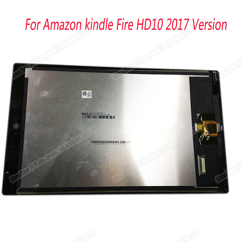 Free shipping 10.1 LCD Display Touch Screen Digitizer For Amazon Kindle Fire HD 10 For Amazon kindle Fire HD10 2017 Version