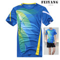 Free Delivery  Men's Badminton Game Shirt  Quick Dry Sportswear  tshirt Tennis   Badminton clothes