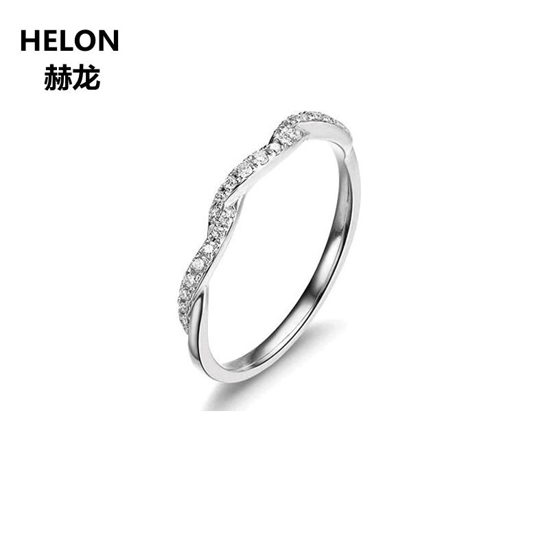 0.08ct Natural Diamonds Engagement Ring for Women Solid 14k White Gold Anniversary Wedding Band Valentine Fine Jewelry Gift0.08ct Natural Diamonds Engagement Ring for Women Solid 14k White Gold Anniversary Wedding Band Valentine Fine Jewelry Gift