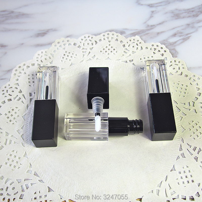 ᐊ3.5 ml 50 unids/lote plástico cuadrado vacío Brillo de labios tubo ...