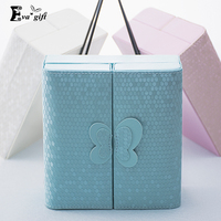 Creative Bow Jewelry Box Small PU Leather Casket For Jewelry Travel Case Best Birthday Gift Ring