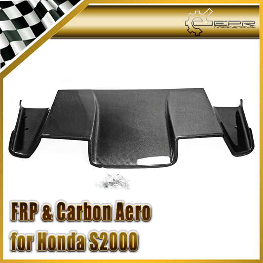Car Styling For Honda S2000 Carbon Fiber Spoon Style Rear Under Diffuser Glossy Fibre Bumper Panel Auto Body Kit Racing Trim car styling for honda civic fd 2006 carbon fiber steering wheel cover glossy fibre interior bearing circle racing auto body kit