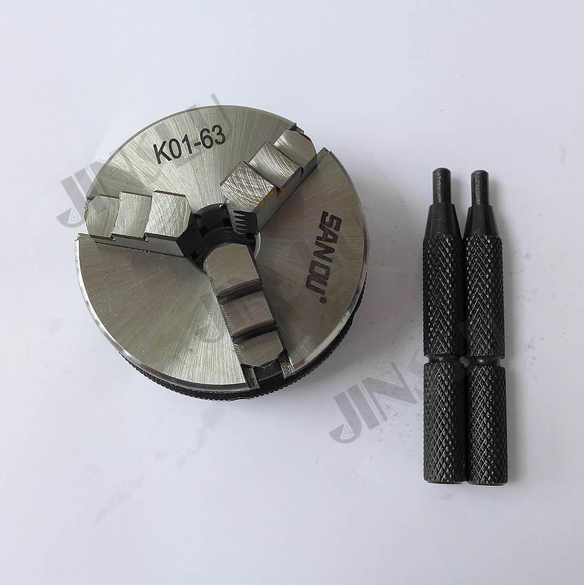 3 Jaw Mini Lathe Chuck Self-centering Chuck SANOU K01-63 M14-1 thread pull the switch associated with a single handle length 22mm potentiometer b50k page 3