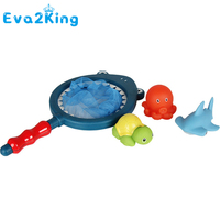 Eva2king 1 Sets Fishing Toys Network Bag Pick up Duck & Bee & Fish Kids Toy Swimming Classes Summer Play Water Bath Toy With Box