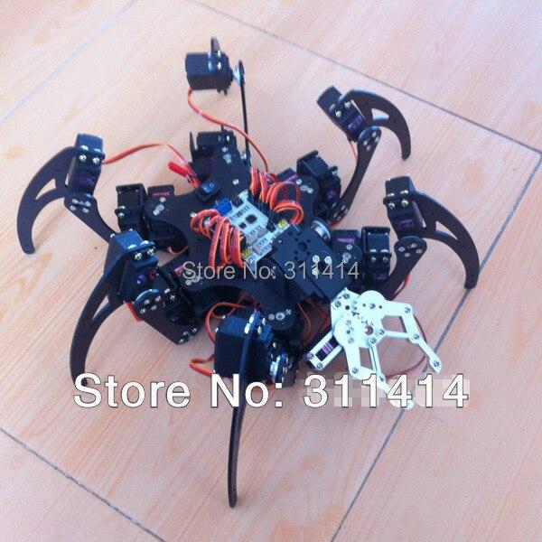 Set arduino aluminum foot spider robot dof six legs