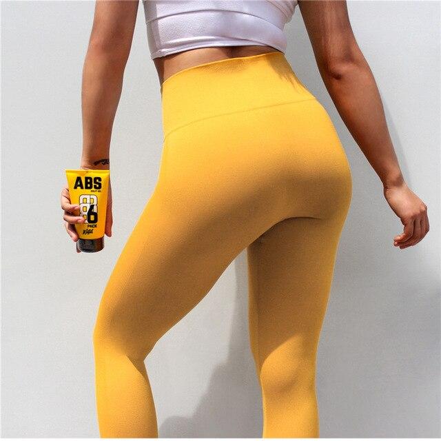 Women Calf-length Pants Yoga Pants Woman Gym Leggings Fitness Legging High Elastic Sports Wear Fitness Sports Seamless Leggings