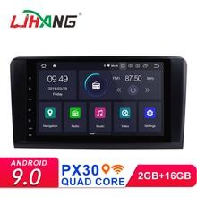 LJHANG 2 Din 9 «Android 9,0 автомобильный Радио мультимедийный плеер для Mercedes Benz ML/GL CLASS W164 ML350 ML500 gps Wifi ips авто стерео