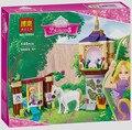 Bela Chicas Serie de La Princesa Rapunzel Castillo Jardines Figuras Building Blocks Ladrillos Juguetes Para Niños Lepin Amigos