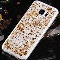 Calidad Superior Binmer Platino de La Manera de Lujo Transparente Cubierta Del Caso de TPU Para Samsung Glaxy S7 Borde Sept13