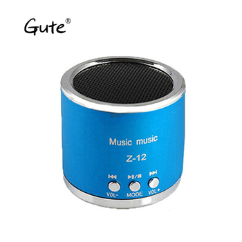 Gute new Mini column metal texture wireless Bluetooth speaker portable BASS stereo Handfree Call for phone caixa de som pb3 dia