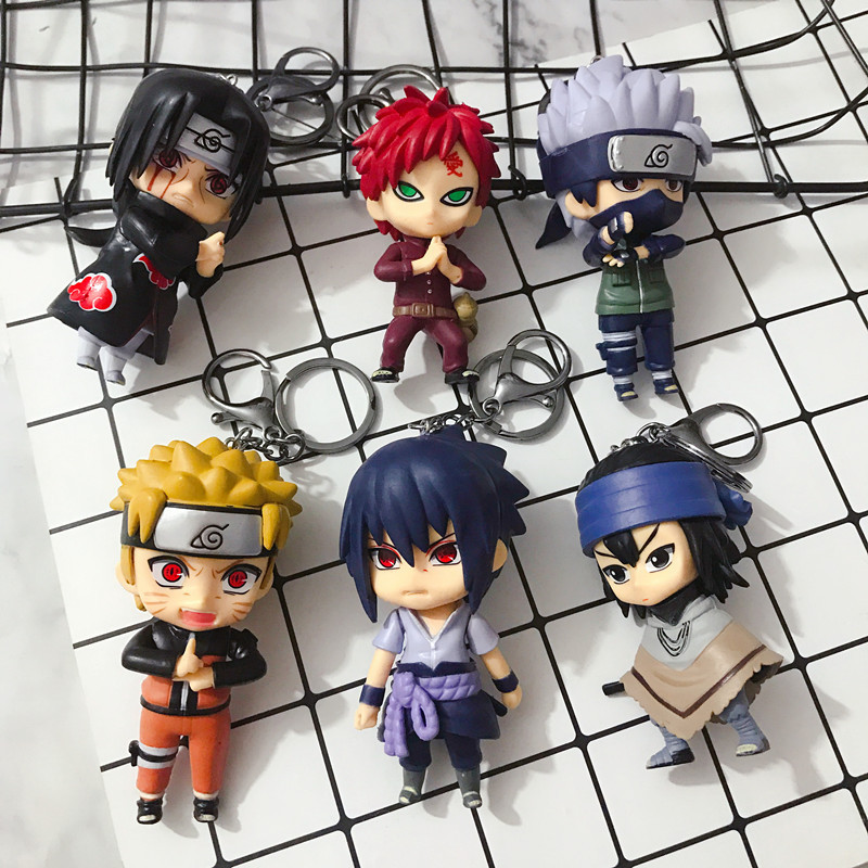 2019 New Cute Anime Cartoon Character Key Chain Bag Pendant Hot Sale Doll Machine Gift Boys And Girls Car Key Chain
