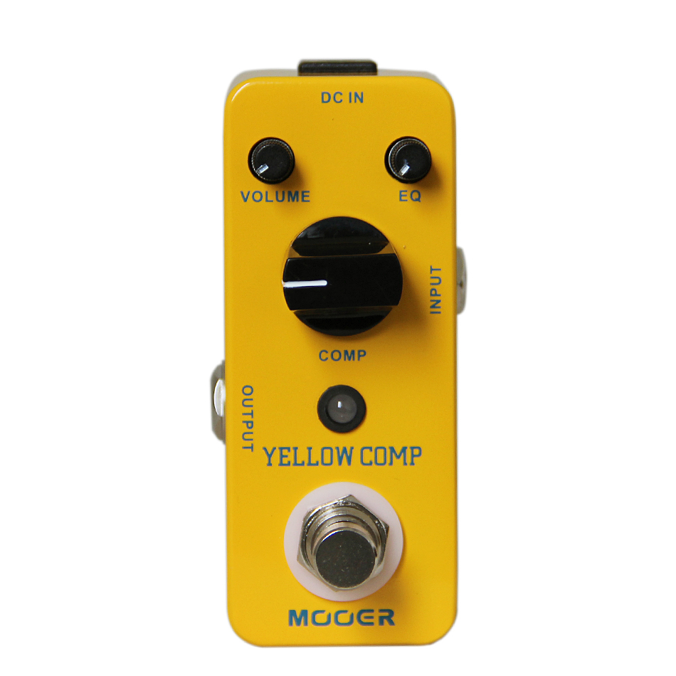 buy mooer yellow comp guitar pedal classic optical compressing effects pedal. Black Bedroom Furniture Sets. Home Design Ideas