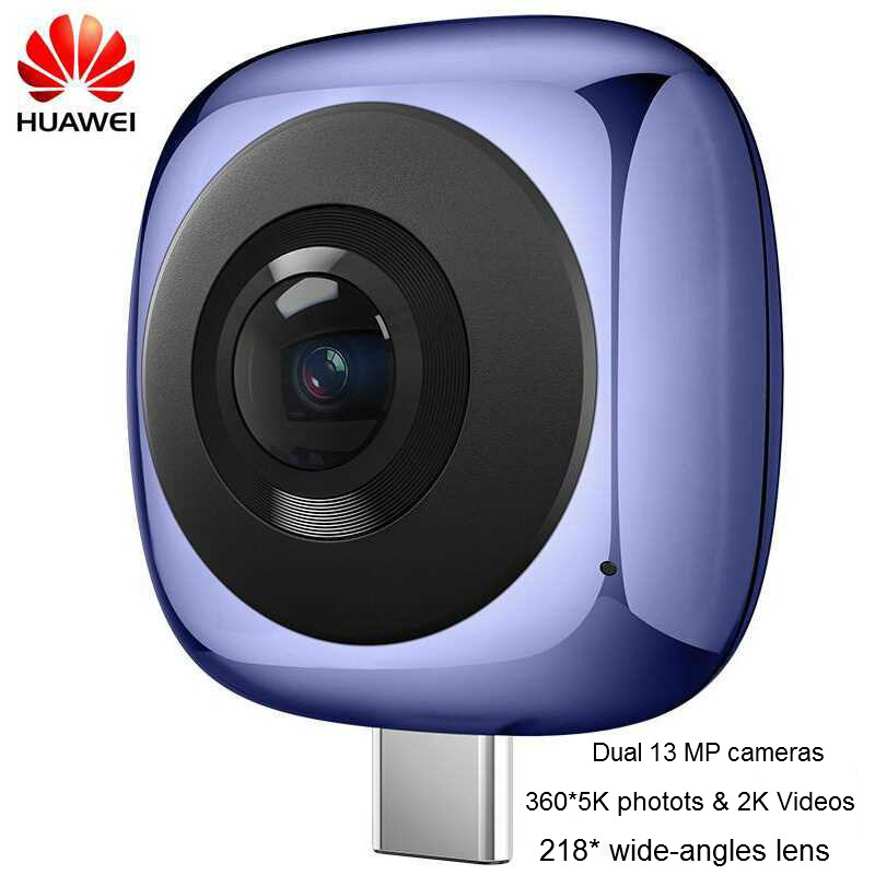 Huawei 360 Cámara CV60 Original huawei 360 grados cámara de vídeo huawei EnVizion 360 lente de cámara HD 3D Deportes En Vivo Camera360 Wifi cámara IP PTZ 1080P 3MP 5MP Super HD 5X Zoom Audio bidireccional inalámbrico PTZ cámara de seguridad de vídeo doméstico al aire libre 60m IR P2P