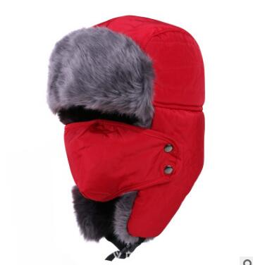 Women Bomber Hats Snow-Cap Winter for Outdoor Thickening Cotton Fur 50pcs/Lot Fast Fedex