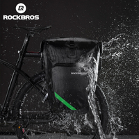 ROCKBROS Bisiklet Arka Raf Kuyruk Koltuk Çanta Su Geçirmez 27L Taşınabilir Bisiklet MTB Bisiklet Çanta Pannier Gövde Sırt Çantası Bisiklet Aksesuarları