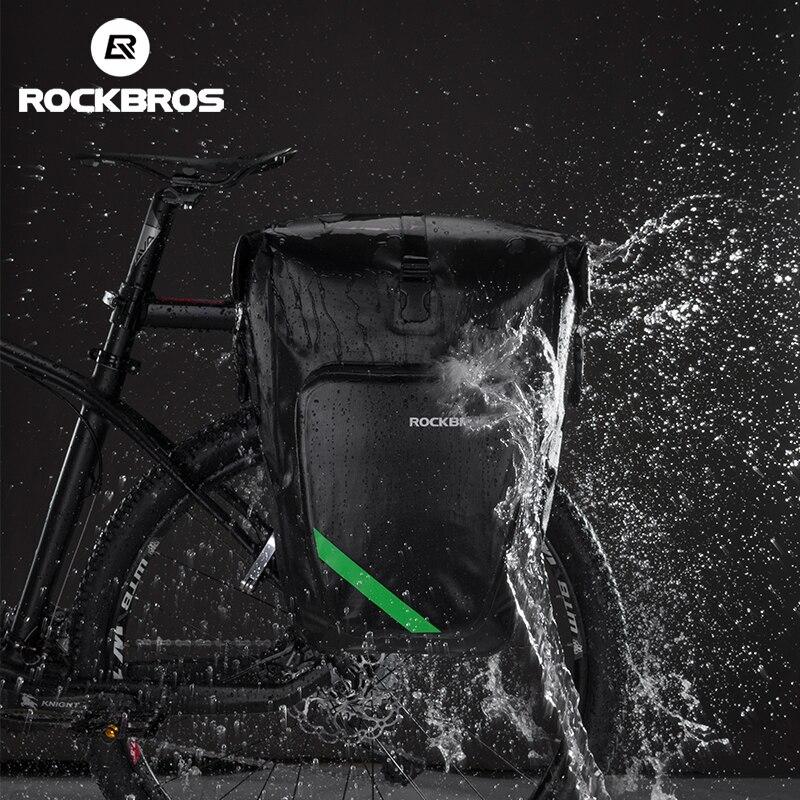 ROCKBROS Vélo Porte-Bagages Arrière Tail Seat Sac Étanche 27L Portable Vélo VTT Vélo Sac Pannier Tronc Sac À Dos Vélo Accessoires