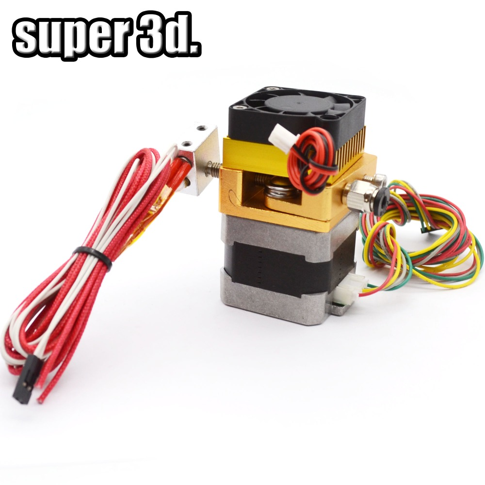 1 set 0.4mm nozzle K8 single Extruder printing head Hotend 3D printer parts Makerbot Reprap Prusa i3 1.75 filament 12/24V Fan