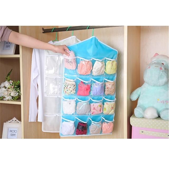 16 Pocket Over Door Hanging Bag Shoe Toy Hanger Storage Tidy