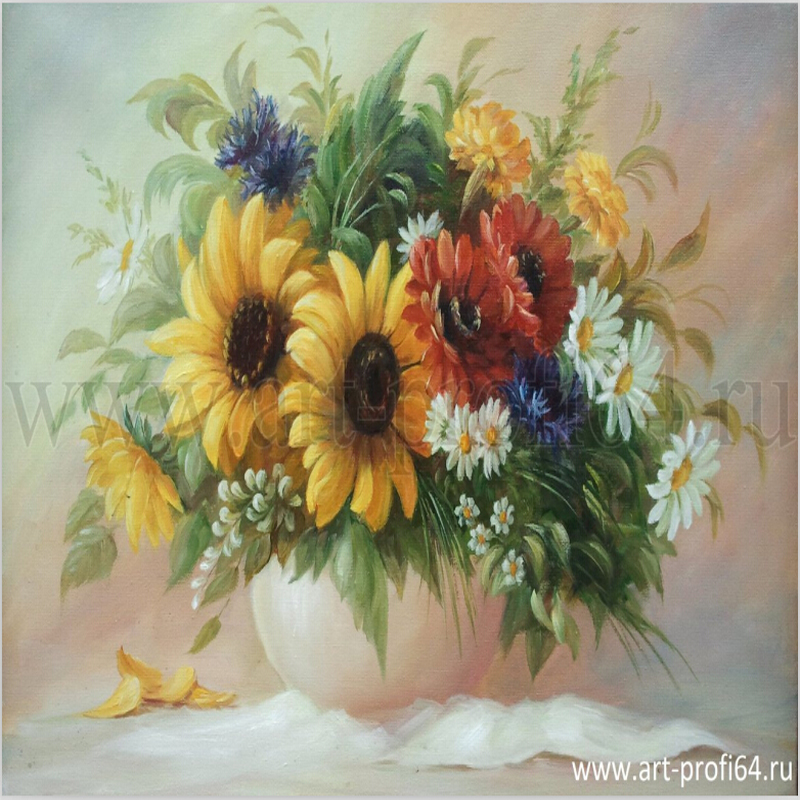 Buy 40 50 vintage home decor wall art for Diy flower canvas wall art