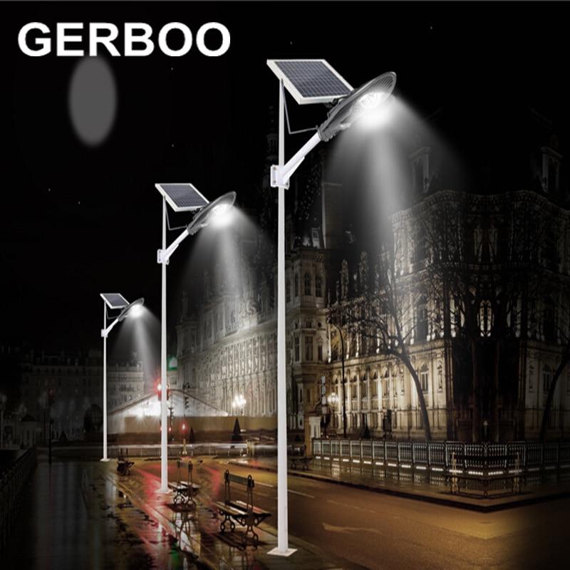 2017 Solar Street Light 16V 60W Solar Panel LED COB 30W Outdoor Garden Path Lights with light control + timer