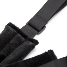 Black Nylon Fetish Bondage Hand Strap For Couple Sex