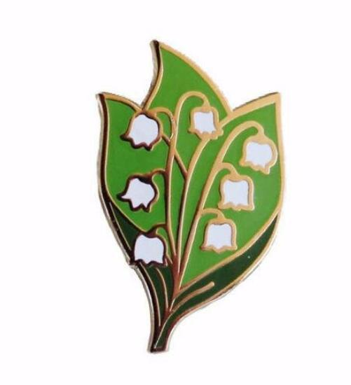 Lily of The Valley Jewelry Wedding Brooch Bridal Shower Gift Ideas Flower Brooch Stained Glass Gift Jewelry Accessories