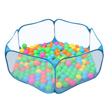 hot deal buy children's ocean ball pool indoor outdoor baby gear portable playpen travel foldable baby gym activity game fence kids play yard