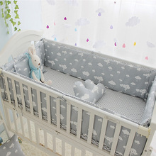 Newborn Crib Bedding Set 5pcs Bed Linen 100% Cotton 5pcs Baby Cot Bedding Set Include Bed Sheet Bumpers With Filling, 7 sizes