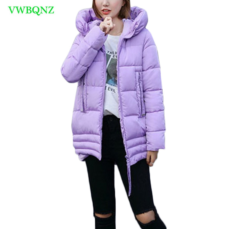 Women Down Cotton-padded Jacket   Parkas   Winter Jackets Women's Warm Down cotton Jacket Coat Fashion Hooded Long Cotton Coat A961