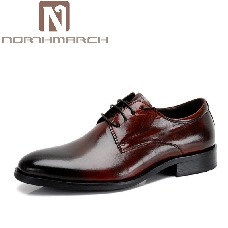 NORTHMARCH Brand Pointed Toe Men Oxfords Formal Shoes Top Quality Leather Shoes Men Dress Shoes Men Wedding Shoes Drop Shipping men oxfords top quality handsome comfortable meijiana brand men wedding shoes