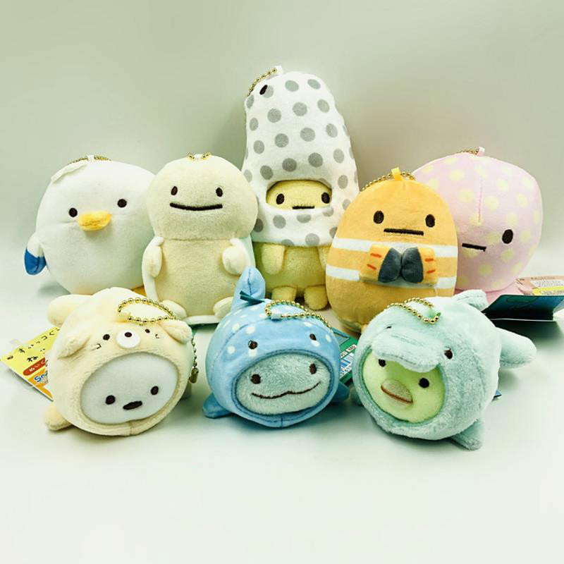 1pc Creative Cute Japanese Sumikko Gurashi Corner Creature Keychain Bag Pendant Stuffed Plush Toys For Kids Gift