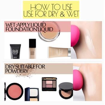 1pc Makeup Cosmetic puff Soft Sponge Make up Sponge Foundation Face Powder Puff Beauty Drop Sponj Sponges for make-up 6