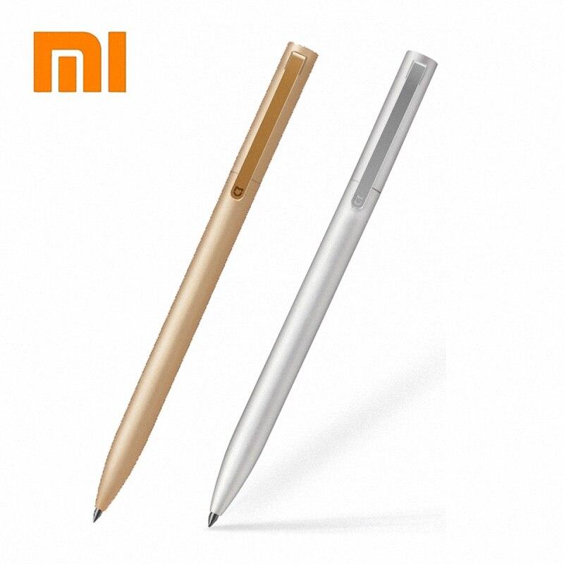 Originale xiaomi Mijia Metallo penna a sfera Mijia firmare penna 0.5 MM PREMEC Liscia Svizzera Refill Inchiostro Metallo Oro E Argento