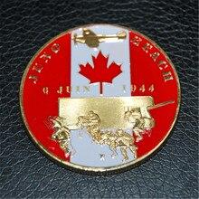 Free Shipping 5Pcs/Lot,1944.6.6 D-Day Normandie War Juno Beach Sword Beach France Gold Plated Coin robert r allen d day landing guide sword to utah beach