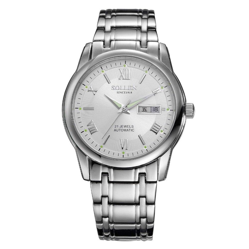 Automatic mechanical Men's belts Watches Top Brand Luxury Steel Gold Watch Men Luminous Wristwatches Male Clock zegarki meskie