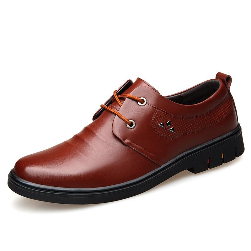 Homens Tie Selvagem Estilo Sapatos Vestido Lindo Negócios Dos Elegante 2019 brown Casuais Respirável E Black De Tendência Inglaterra Wearable 7XqwO