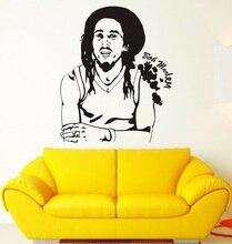 Vinyle autocollant mural Marley Reggae mélomanes affiche famille chambre Art Design décoration décorative autocollant mural 2YY22