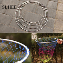 SLHEE 2017 4 Sizes  multicolour fishing folding net bag  Stainless steel large brailer head round glue wire mesh