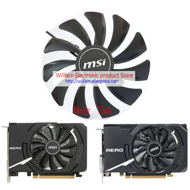 New Original for MSI RX560 GTX1050 GTX1060 AERO ITX Video Graphics card cooling fan HA9010H12SF-Z DC12V 0.57A 3300RPM M560 image